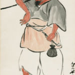 QI Baishi - Old Farmer - 68cm × 34.6cm - Chinese painting on paper (Collection of the National Art Museum of China)