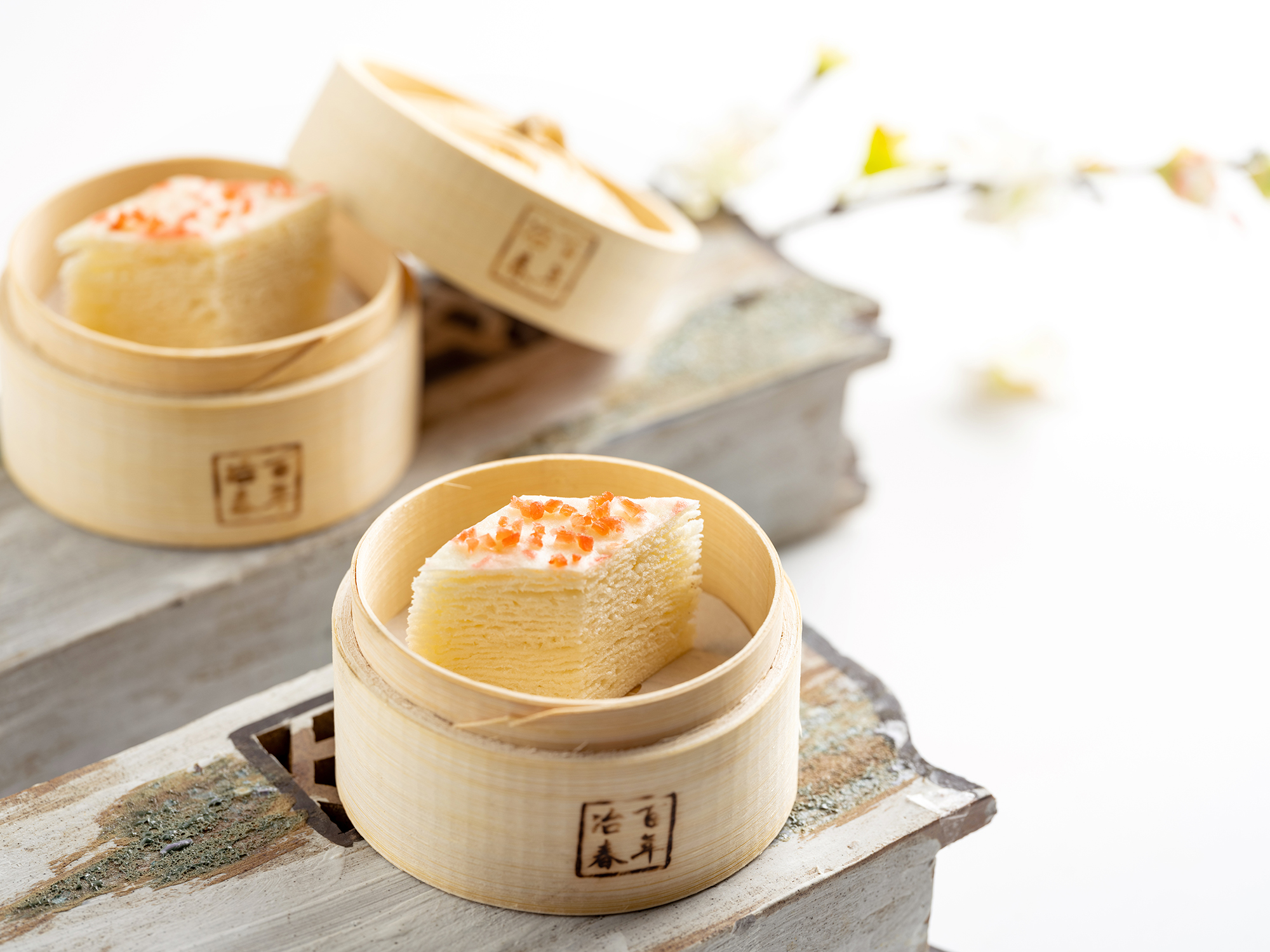 千层油糕 Sweet Sponge Cakes with Multiple Layers